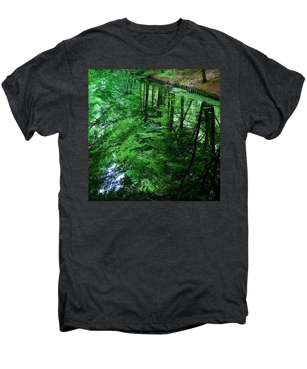 Forest Men's Premium T-Shirt featuring the photograph Forest Reflection by Dave Bowman