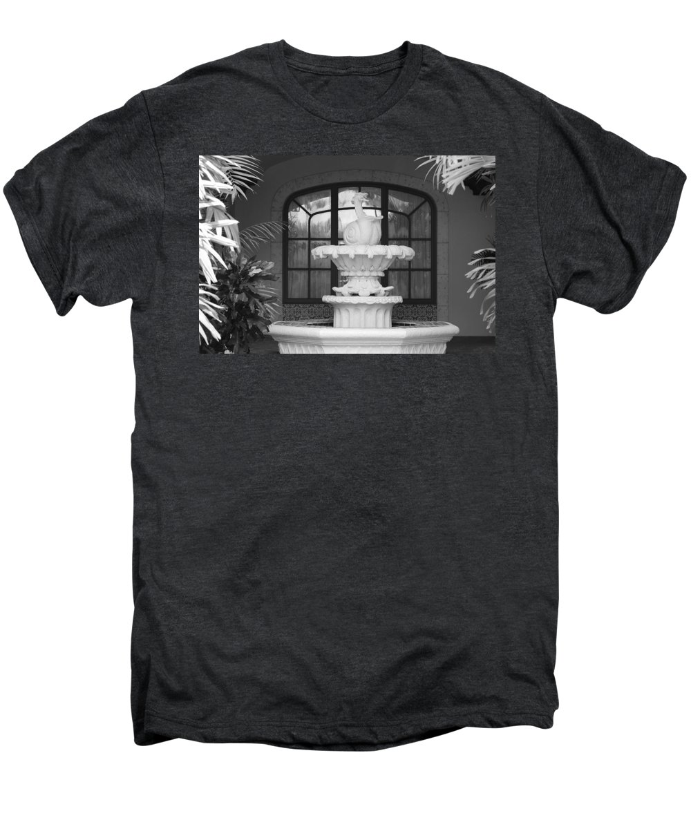 Architecture Men's Premium T-Shirt featuring the photograph Fountian And Window by Rob Hans