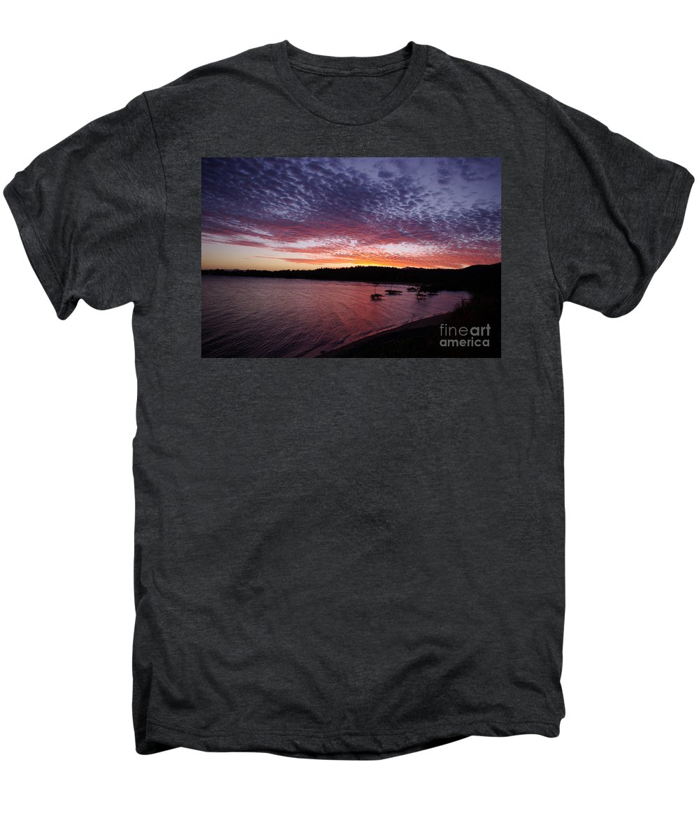 Landscape Men's Premium T-Shirt featuring the photograph Four Elements Sunset Sequence 1 Coconuts Qld by Kerryn Madsen - Pietsch
