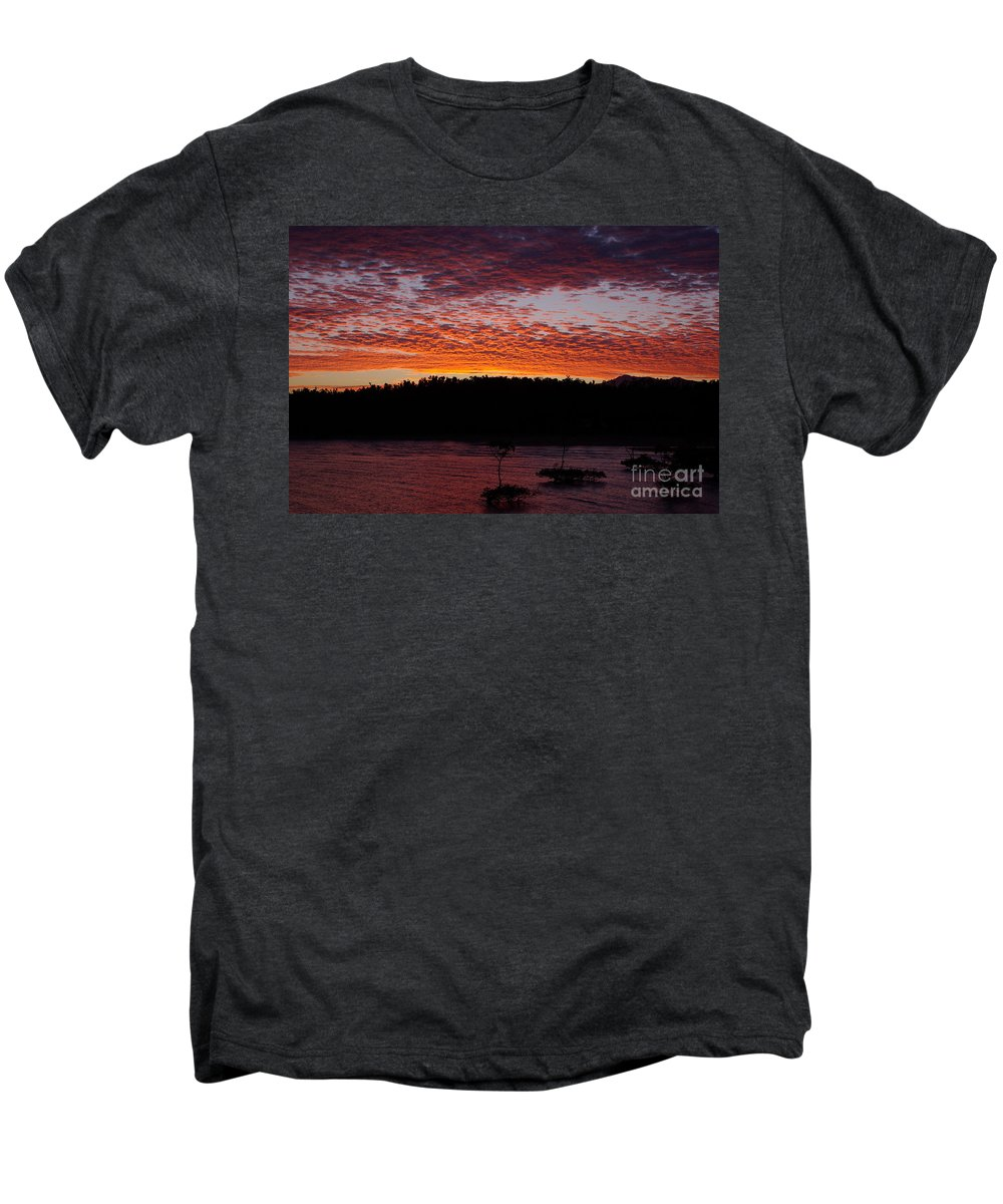 Landscape Men's Premium T-Shirt featuring the photograph Four Elements Sunset Sequence 2 Coconuts Qld by Kerryn Madsen - Pietsch