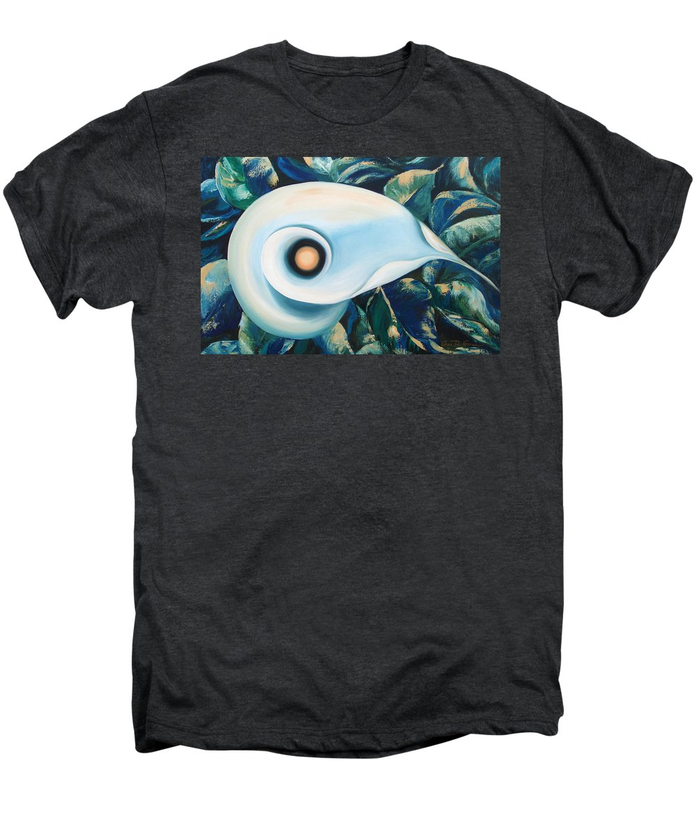 Flowers Men's Premium T-Shirt featuring the painting From The Heart Of A Flower by Gina De Gorna