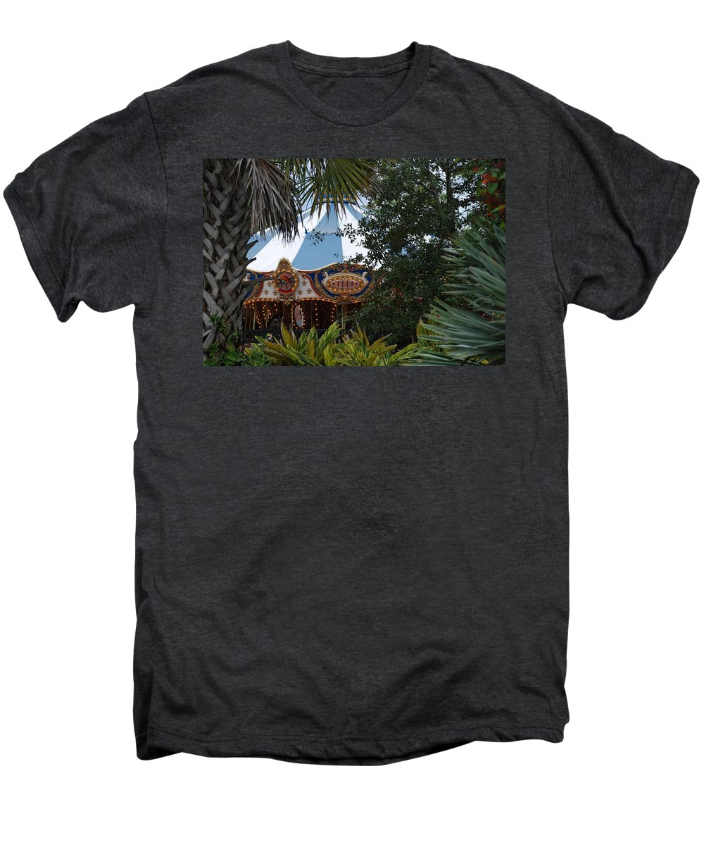 Architecture Men's Premium T-Shirt featuring the photograph Fun Thru The Trees by Rob Hans