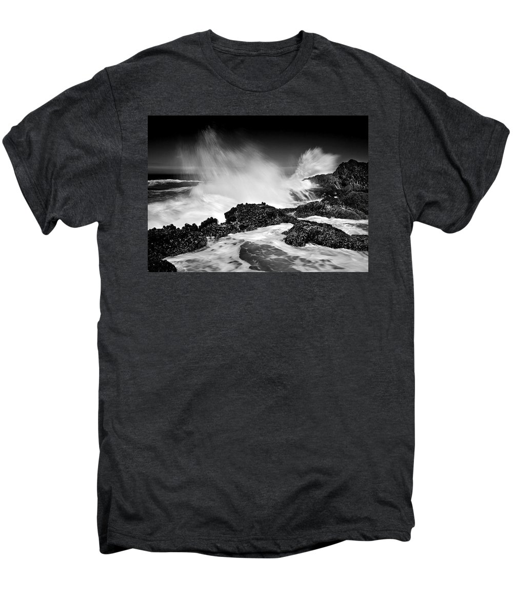 Waves Men's Premium T-Shirt featuring the photograph Fury by Mike Dawson
