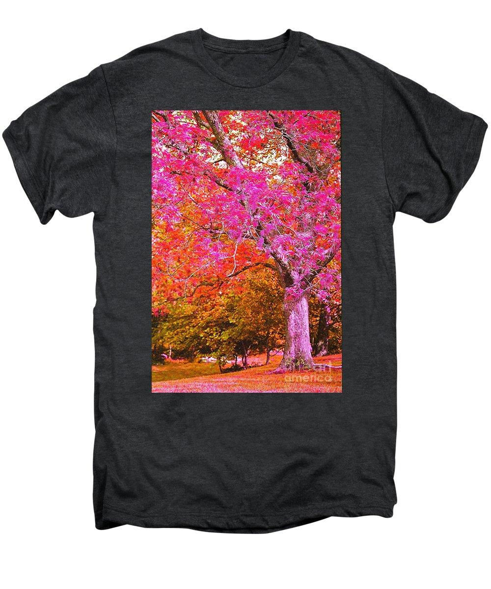 Fuschia Men's Premium T-Shirt featuring the photograph Fuschia Tree by Nadine Rippelmeyer