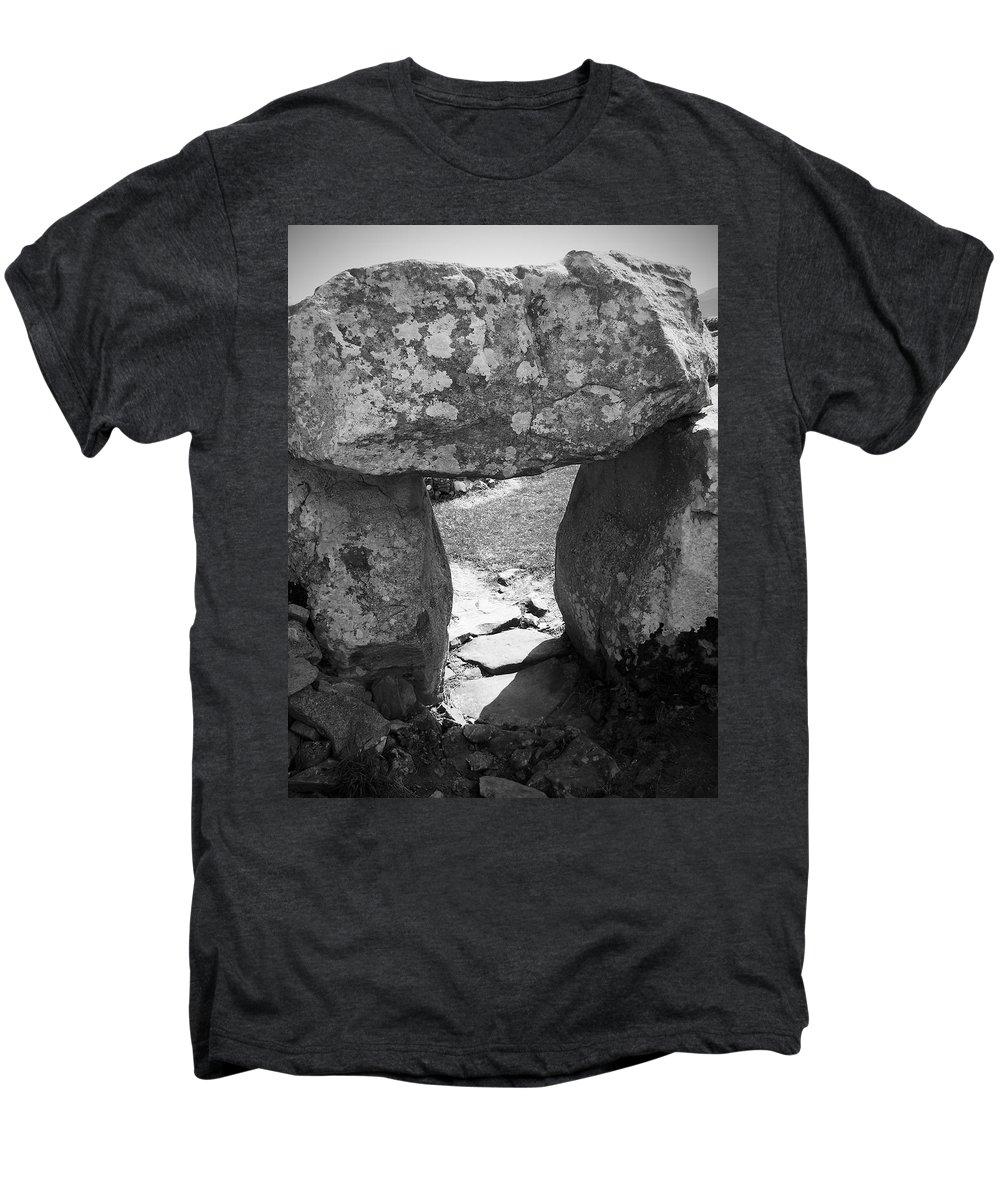 Ireland Men's Premium T-Shirt featuring the photograph Gallery Entrance At Creevykeel Court Cairn Ireland by Teresa Mucha