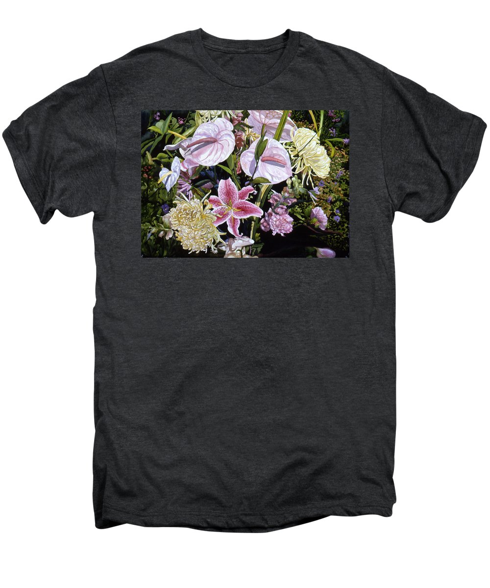 Watercolor Men's Premium T-Shirt featuring the painting Garden Song by Teri Starkweather