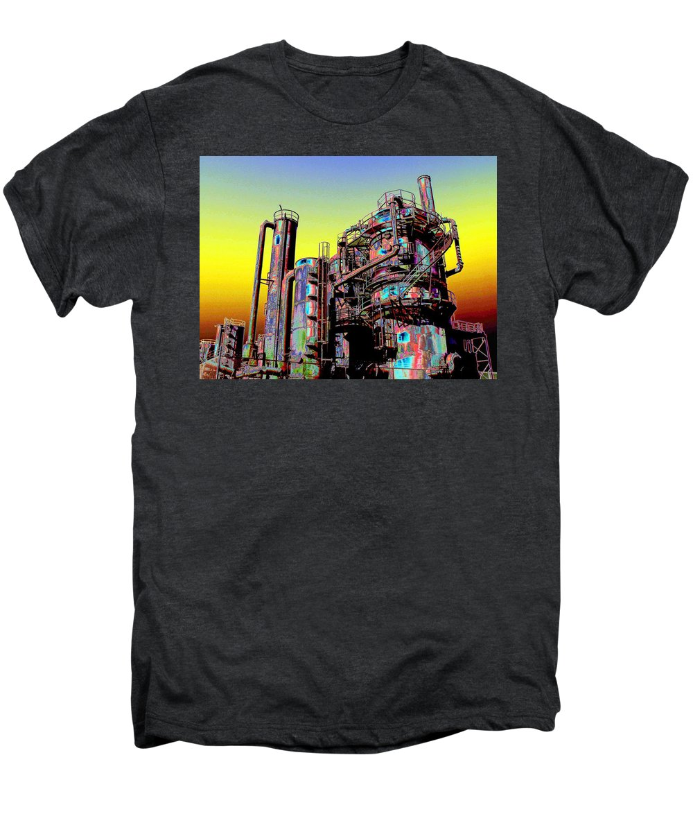 Seattle Men's Premium T-Shirt featuring the digital art Gasworks Park 1 by Tim Allen