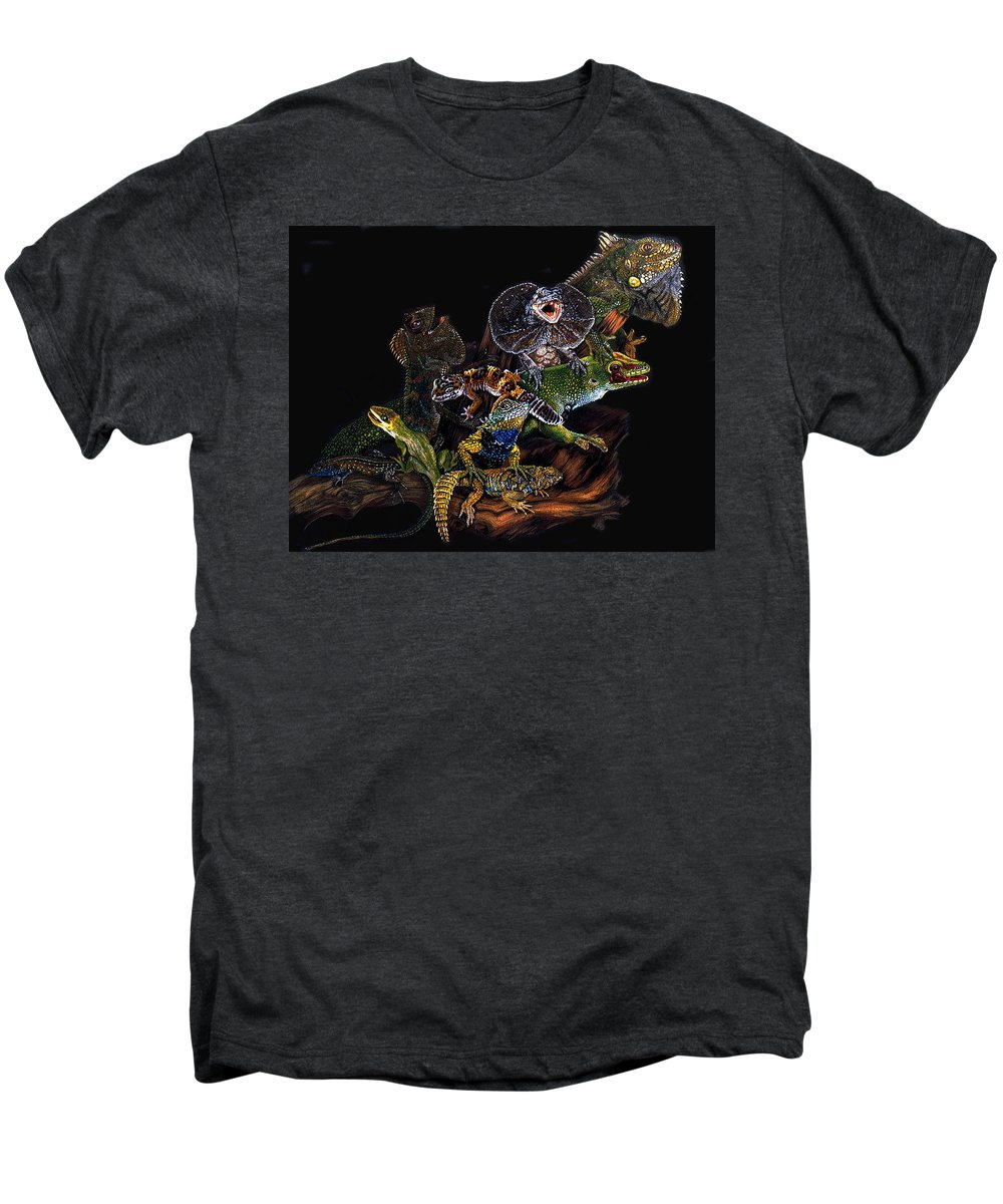 Lizards Men's Premium T-Shirt featuring the drawing Gems And Jewels by Barbara Keith