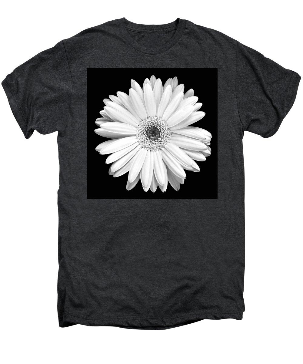 Gerber Men's Premium T-Shirt featuring the photograph Single Gerbera Daisy by Marilyn Hunt