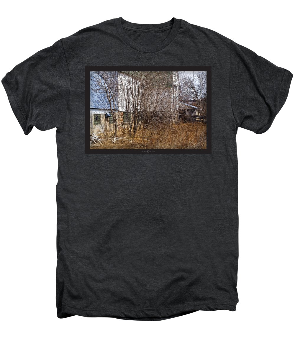 Barn Men's Premium T-Shirt featuring the photograph Glass Block by Tim Nyberg