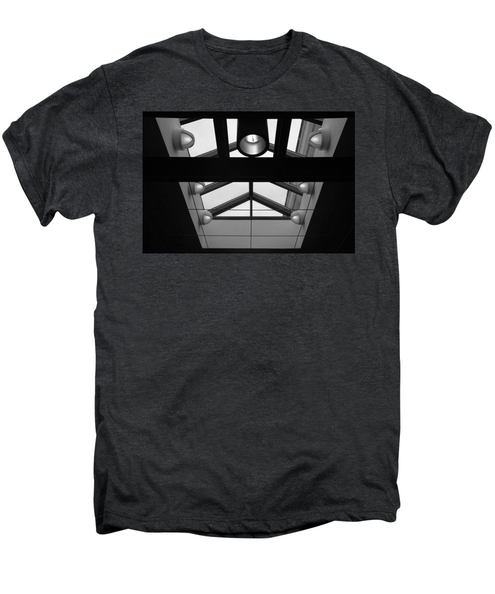 Black And White Men's Premium T-Shirt featuring the photograph Glass Sky Lights by Rob Hans