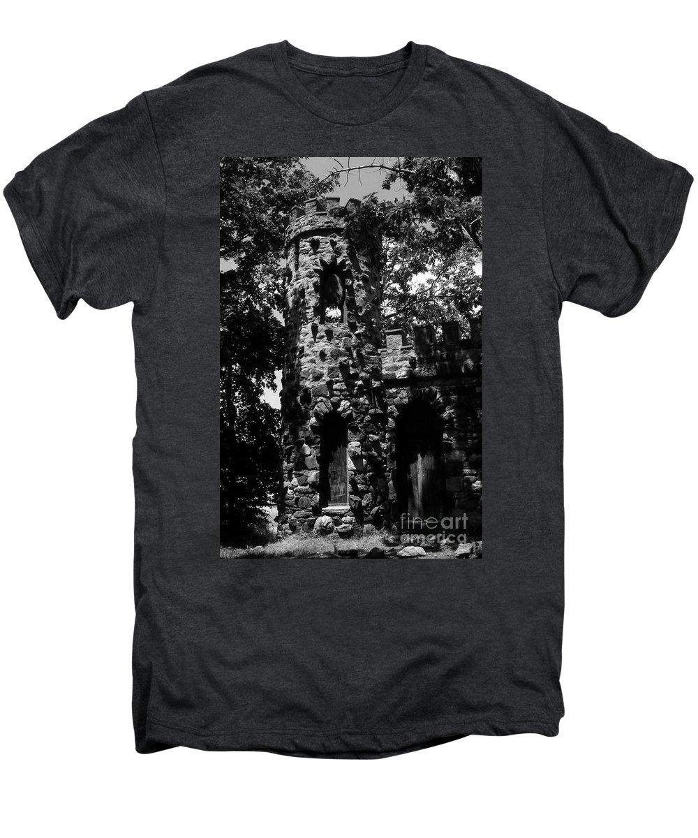 Castle Men's Premium T-Shirt featuring the photograph Glen Island Castle by Richard Rizzo