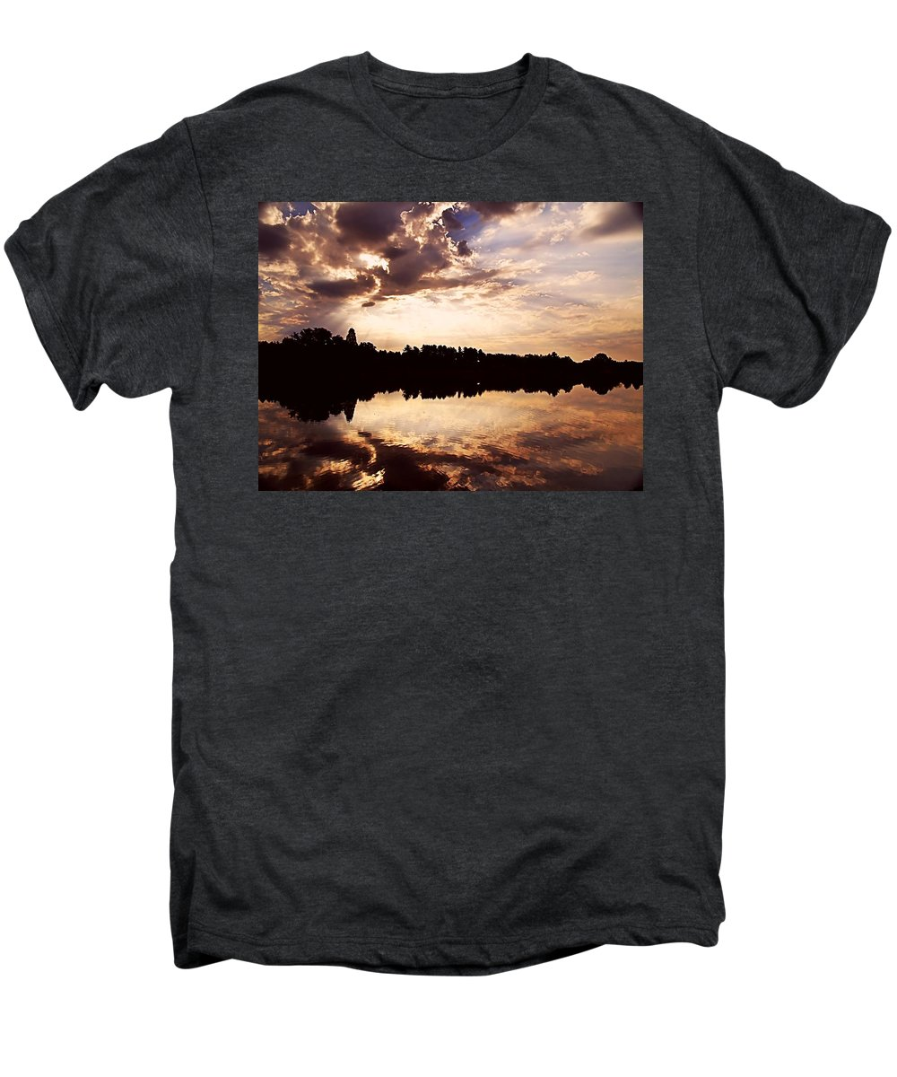 Sunrise Men's Premium T-Shirt featuring the photograph Glorious Moments by Gaby Swanson