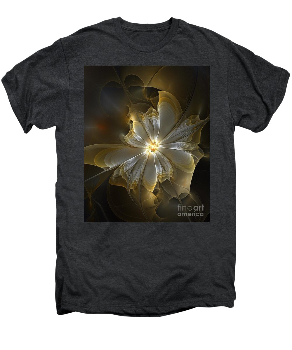 Digital Art Men's Premium T-Shirt featuring the digital art Glowing In Silver And Gold by Amanda Moore