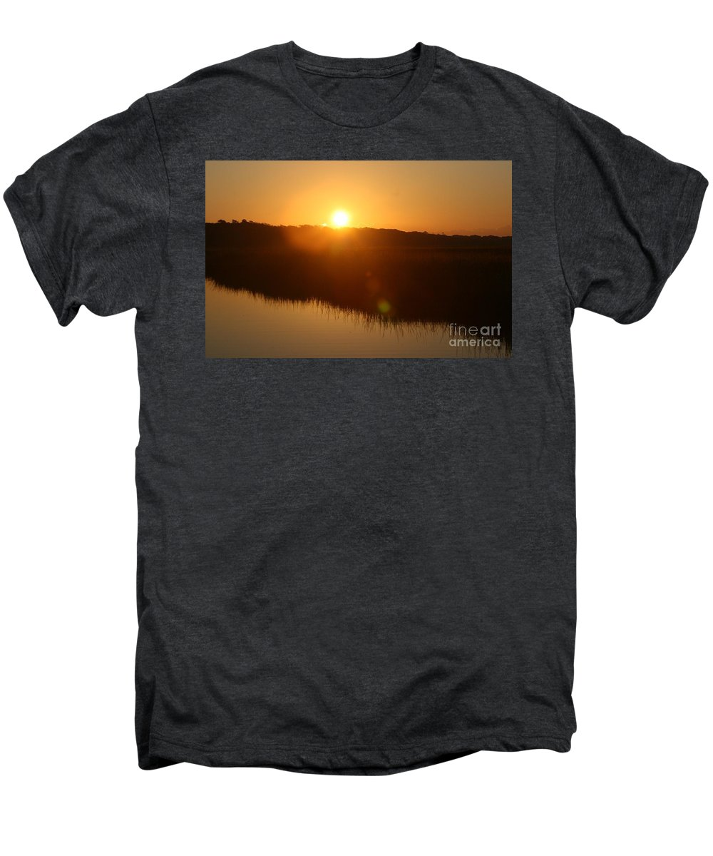 Glow Men's Premium T-Shirt featuring the photograph Gold Morning by Nadine Rippelmeyer