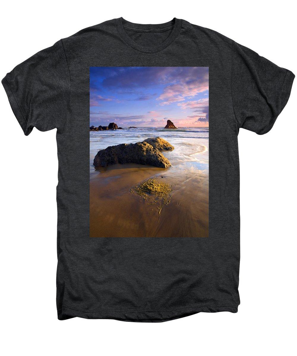 Beach Men's Premium T-Shirt featuring the photograph Golden Coast by Mike Dawson