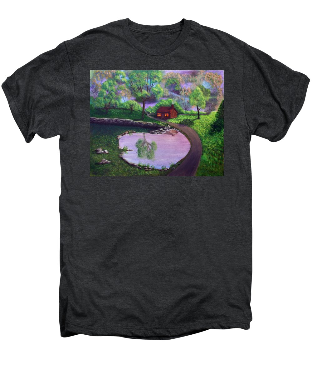 Light Men's Premium T-Shirt featuring the painting Good Spring Morning by Dawn Blair