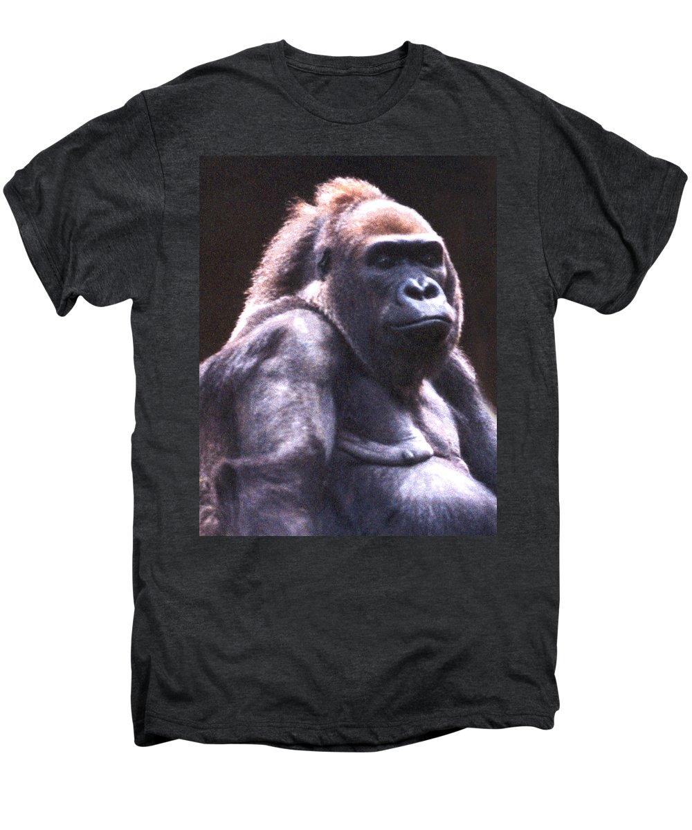 Gorilla Men's Premium T-Shirt featuring the photograph Gorilla by Steve Karol