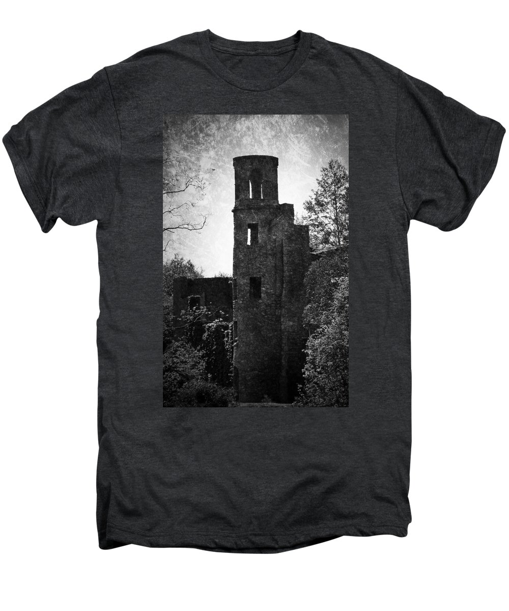 Irish Men's Premium T-Shirt featuring the photograph Gothic Tower At Blarney Castle Ireland by Teresa Mucha