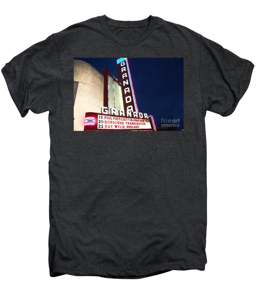 Music Men's Premium T-Shirt featuring the photograph Granada Theater by Debbi Granruth