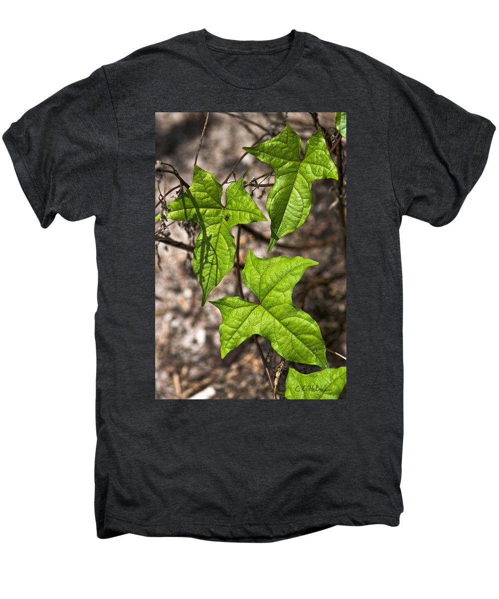 Green Men's Premium T-Shirt featuring the photograph Green Arrowheads by Christopher Holmes