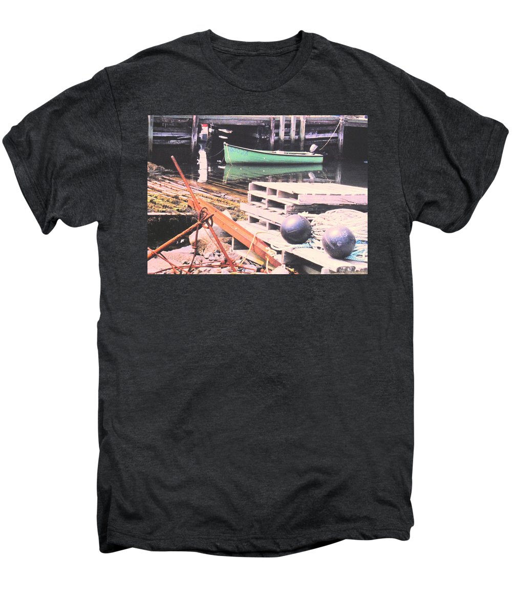 Green Men's Premium T-Shirt featuring the photograph Green Boat by Ian MacDonald