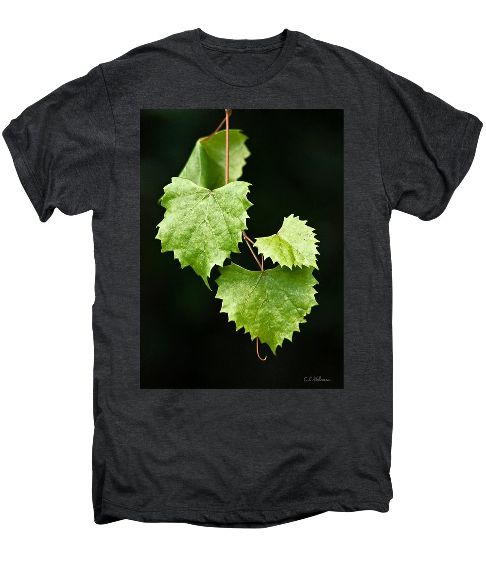 Flora Men's Premium T-Shirt featuring the photograph Green Leaves by Christopher Holmes