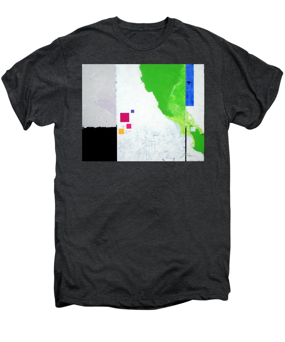 Abstract Men's Premium T-Shirt featuring the painting Green Movement by Jean Pierre Rousselet