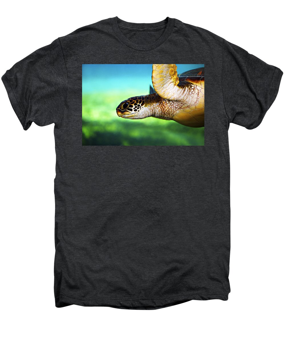 Green Men's Premium T-Shirt featuring the photograph Green Sea Turtle by Marilyn Hunt