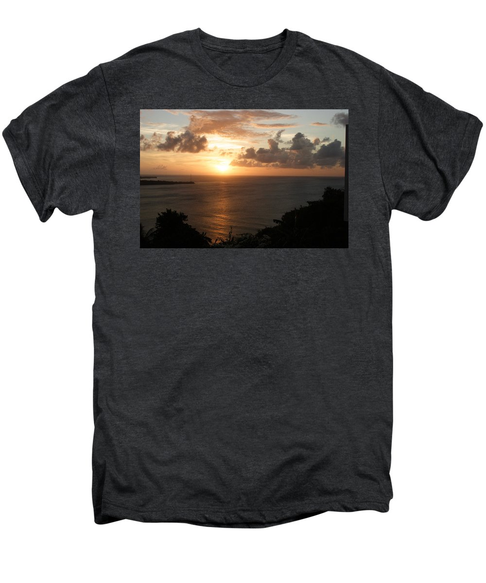 Grenada Men's Premium T-Shirt featuring the photograph Grenadian Sunset I by Jean Macaluso