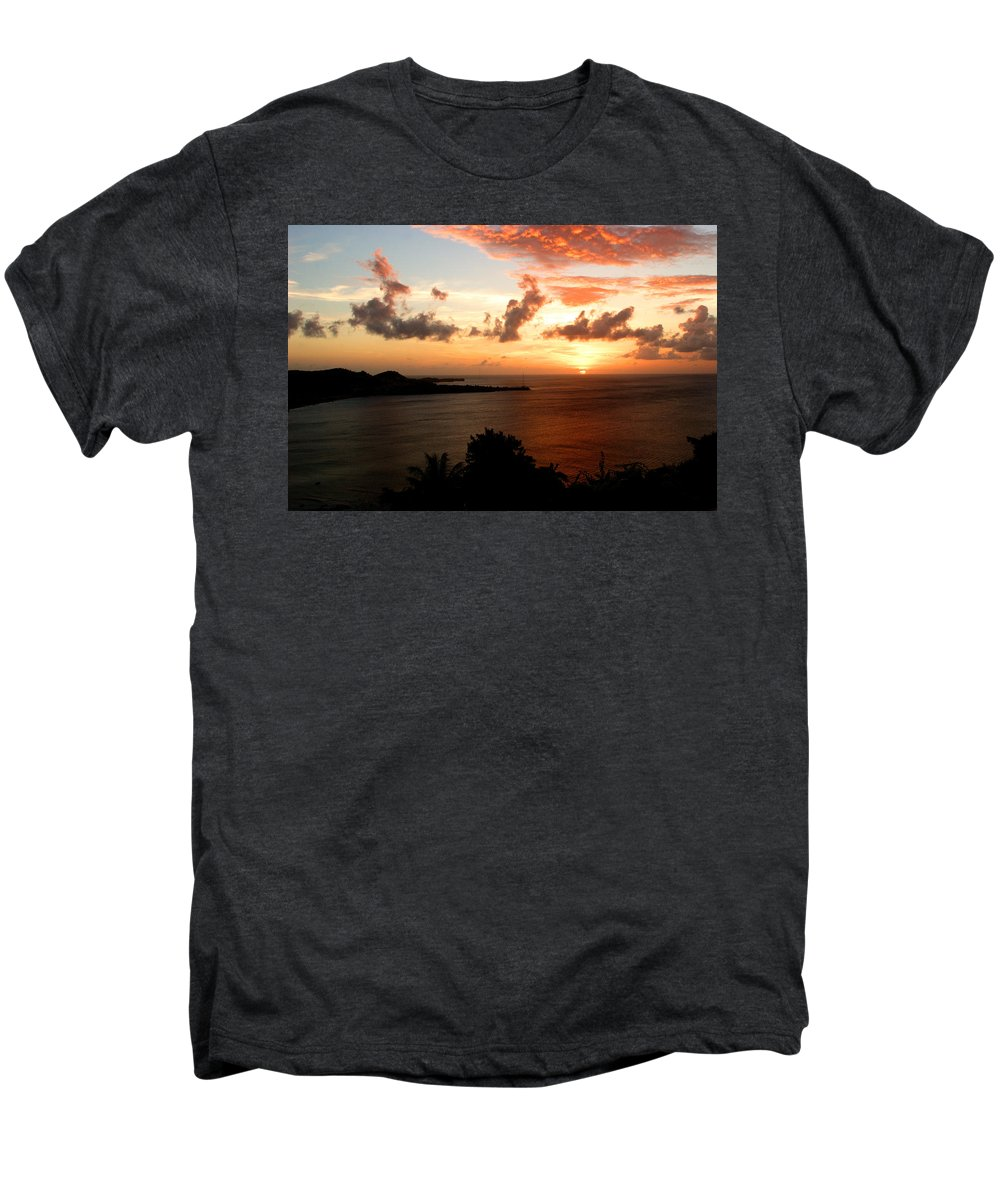 Sunset Men's Premium T-Shirt featuring the photograph Grenadian Sunset II by Jean Macaluso