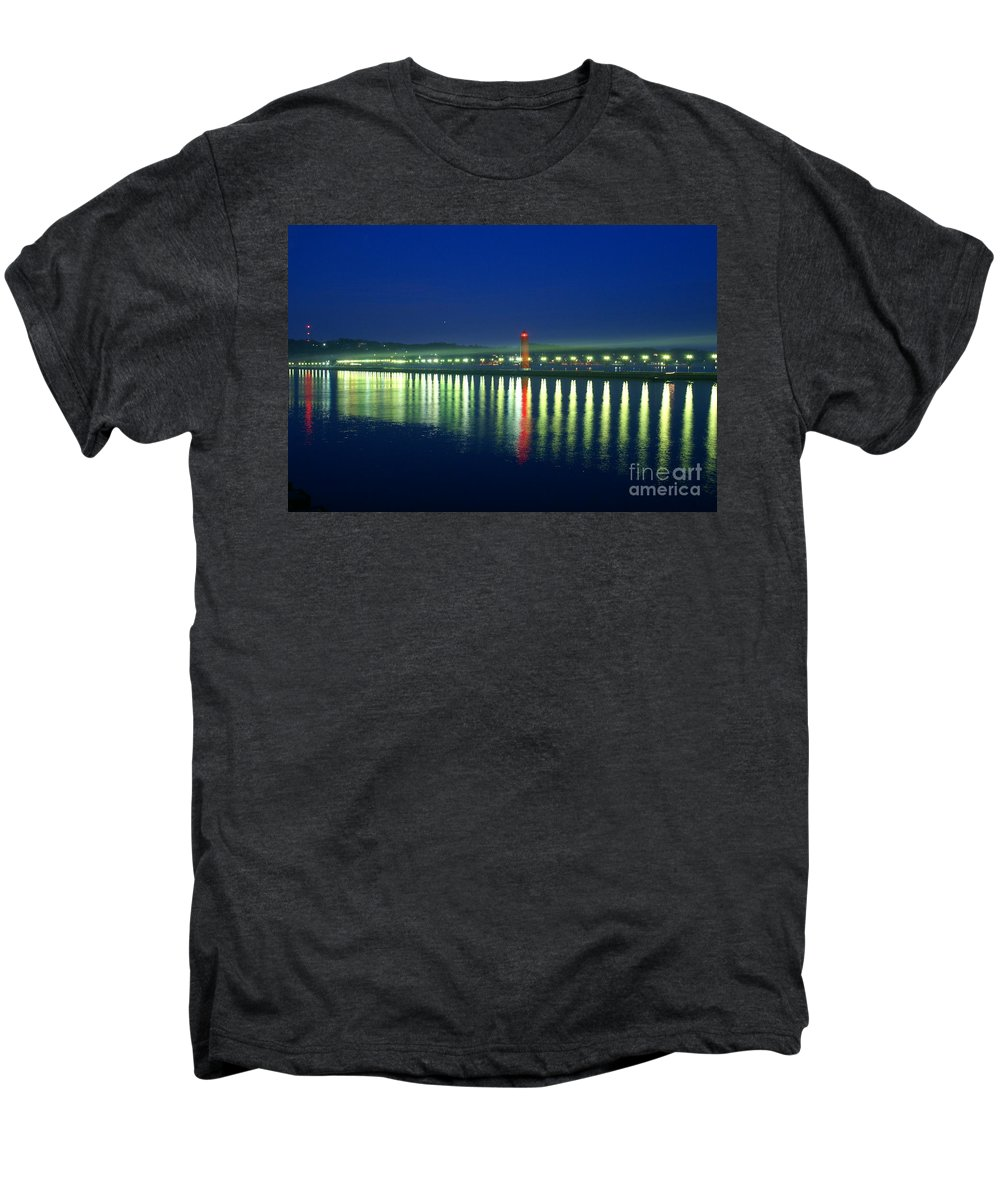 Pier Men's Premium T-Shirt featuring the photograph Guiding Light by Robert Pearson