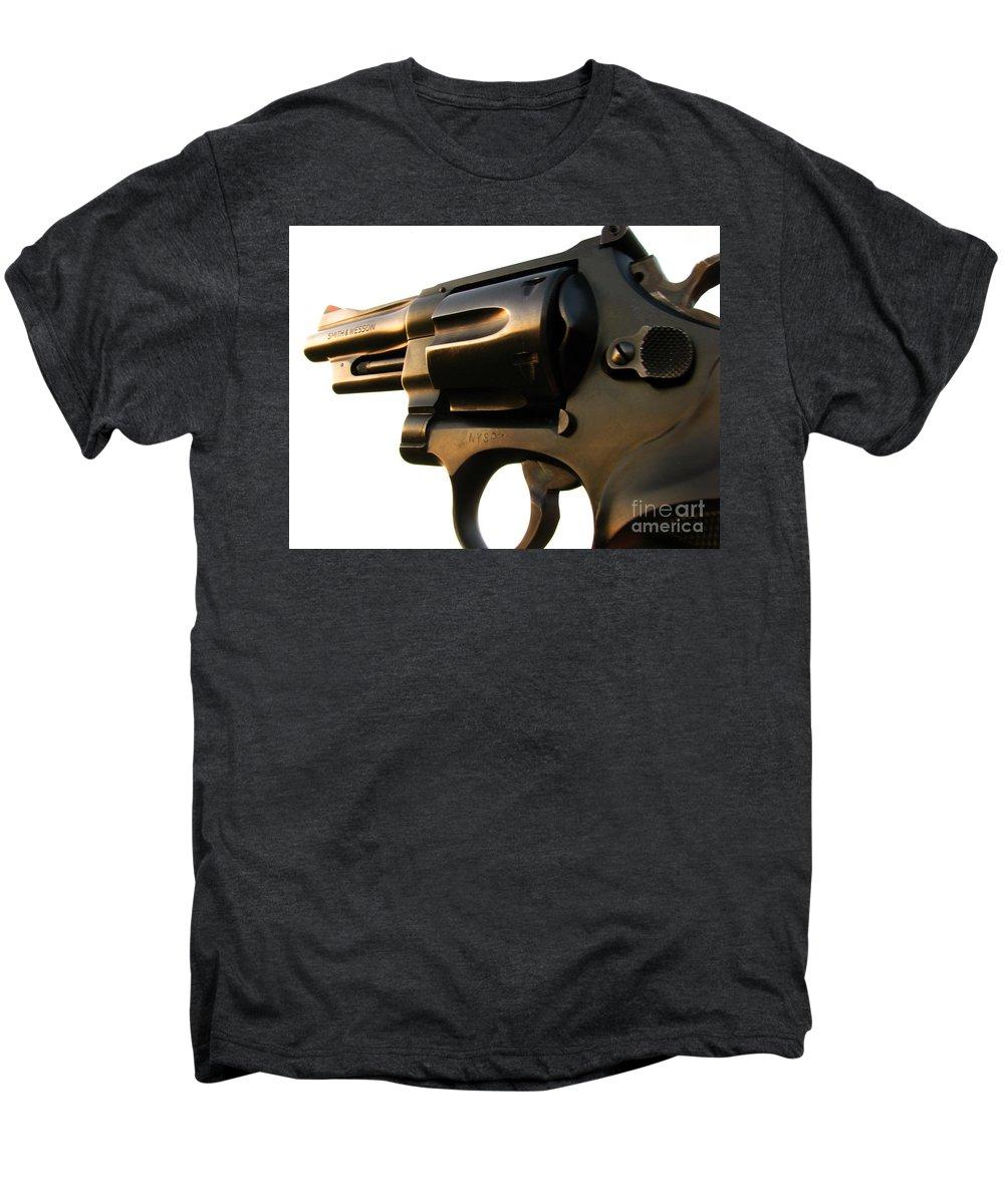 Gun Men's Premium T-Shirt featuring the photograph Gun Series by Amanda Barcon