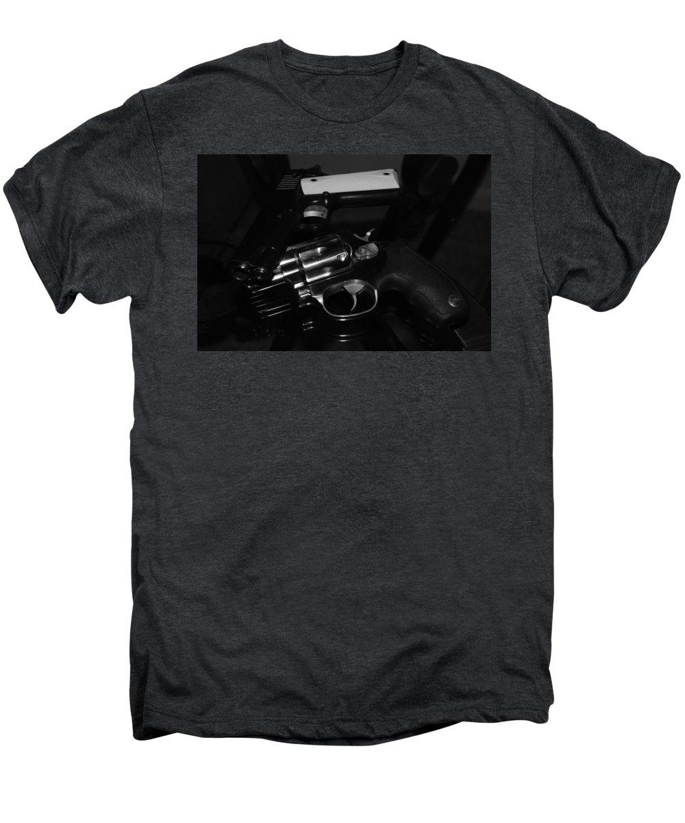 Guns Men's Premium T-Shirt featuring the photograph Guns And More Guns by Rob Hans