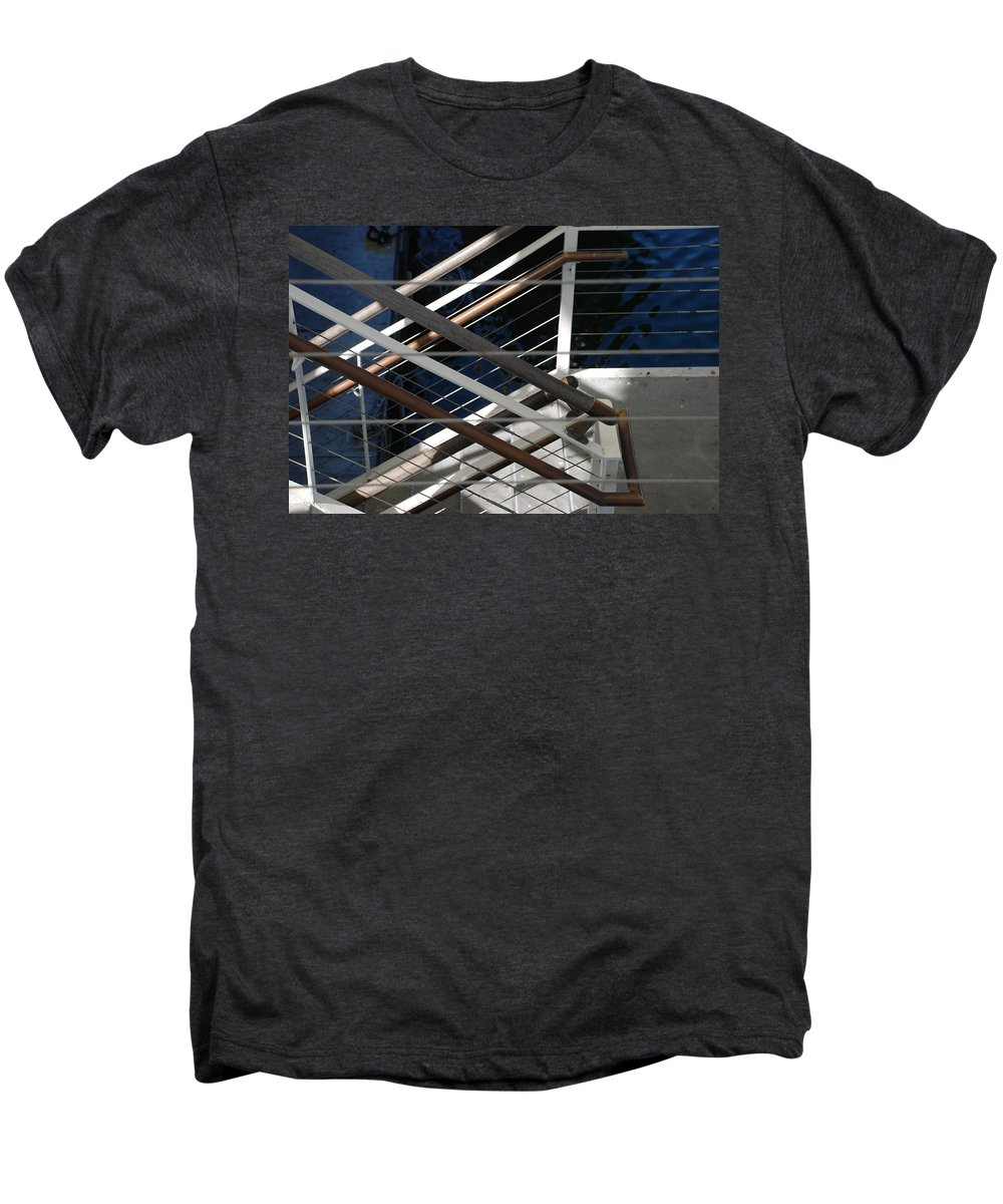 Water Men's Premium T-Shirt featuring the photograph Hand Rails by Rob Hans