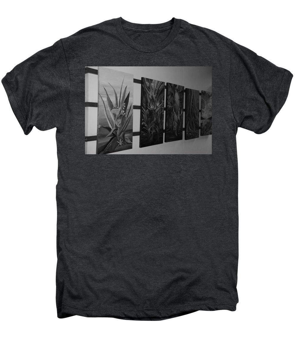 Black And White Men's Premium T-Shirt featuring the photograph Hanging Art by Rob Hans