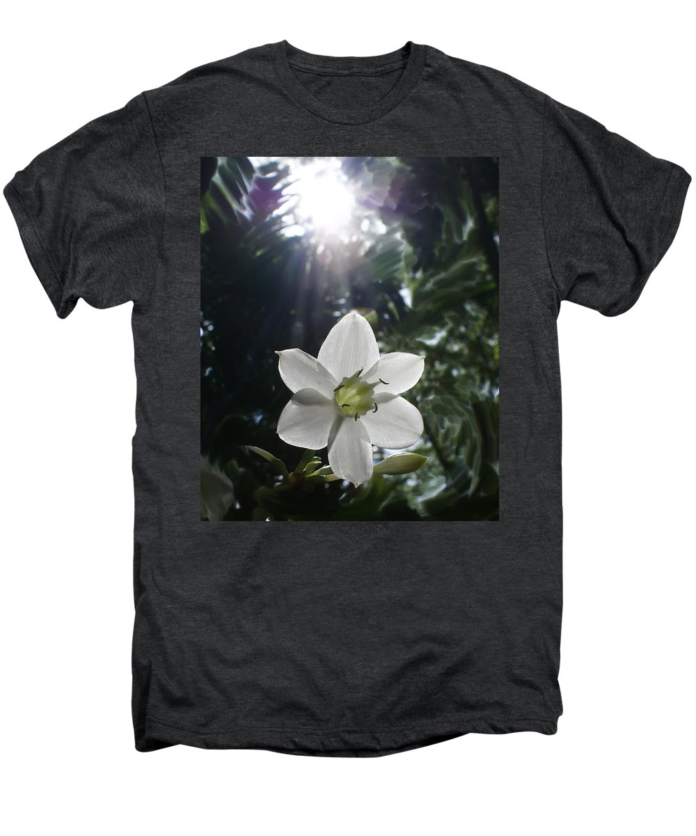 Hawaiian Men's Premium T-Shirt featuring the photograph Hawaiian Flower by Heather Coen