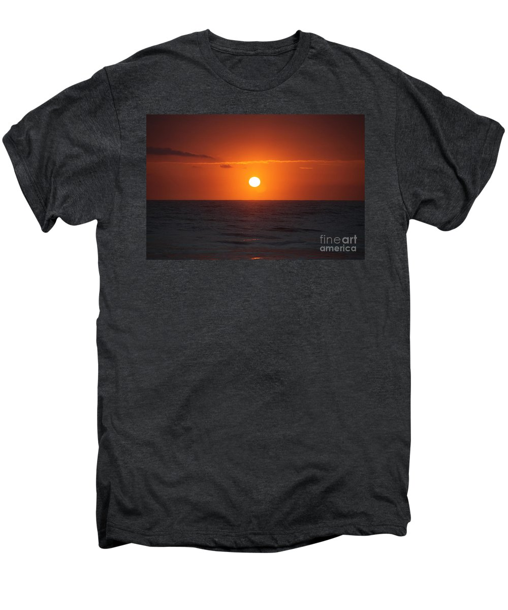 Sunrise Men's Premium T-Shirt featuring the photograph Hawaiian Sunrise by Nadine Rippelmeyer