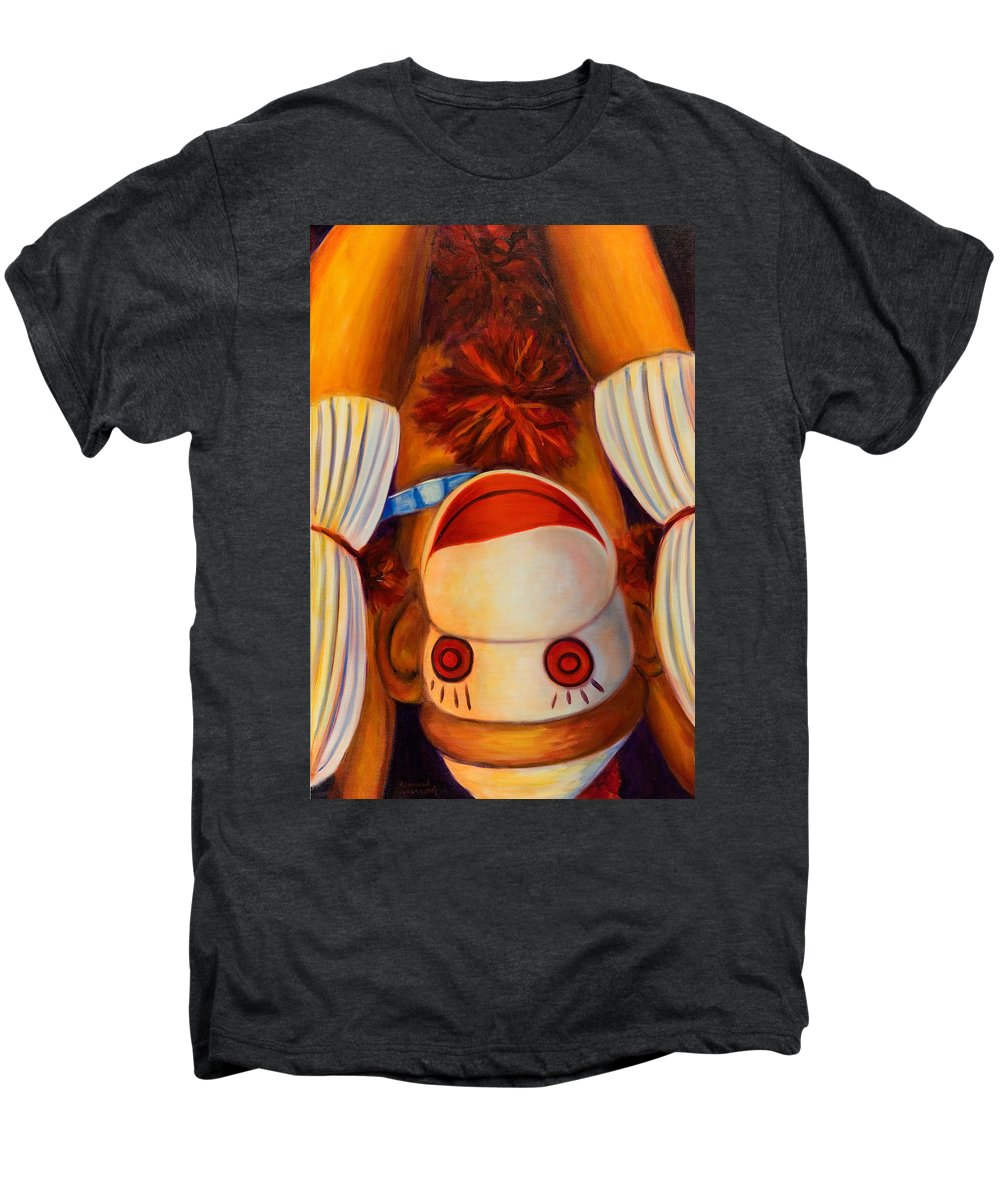 Children Men's Premium T-Shirt featuring the painting Head-over-heels by Shannon Grissom