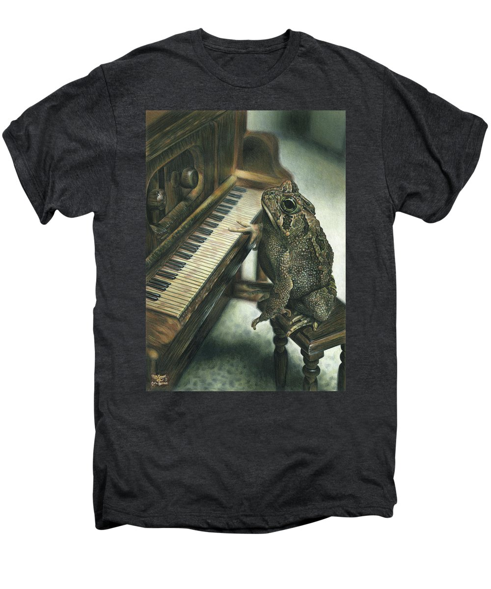 Heart Men's Premium T-Shirt featuring the drawing Heart Of The Symphony by Cara Bevan
