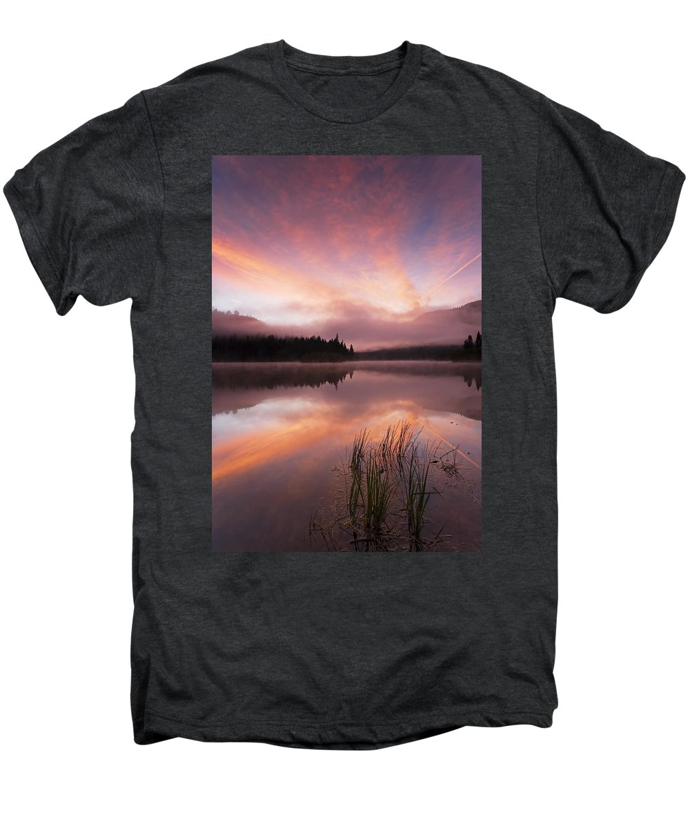 Sunrise Men's Premium T-Shirt featuring the photograph Heavenly Skies by Mike Dawson