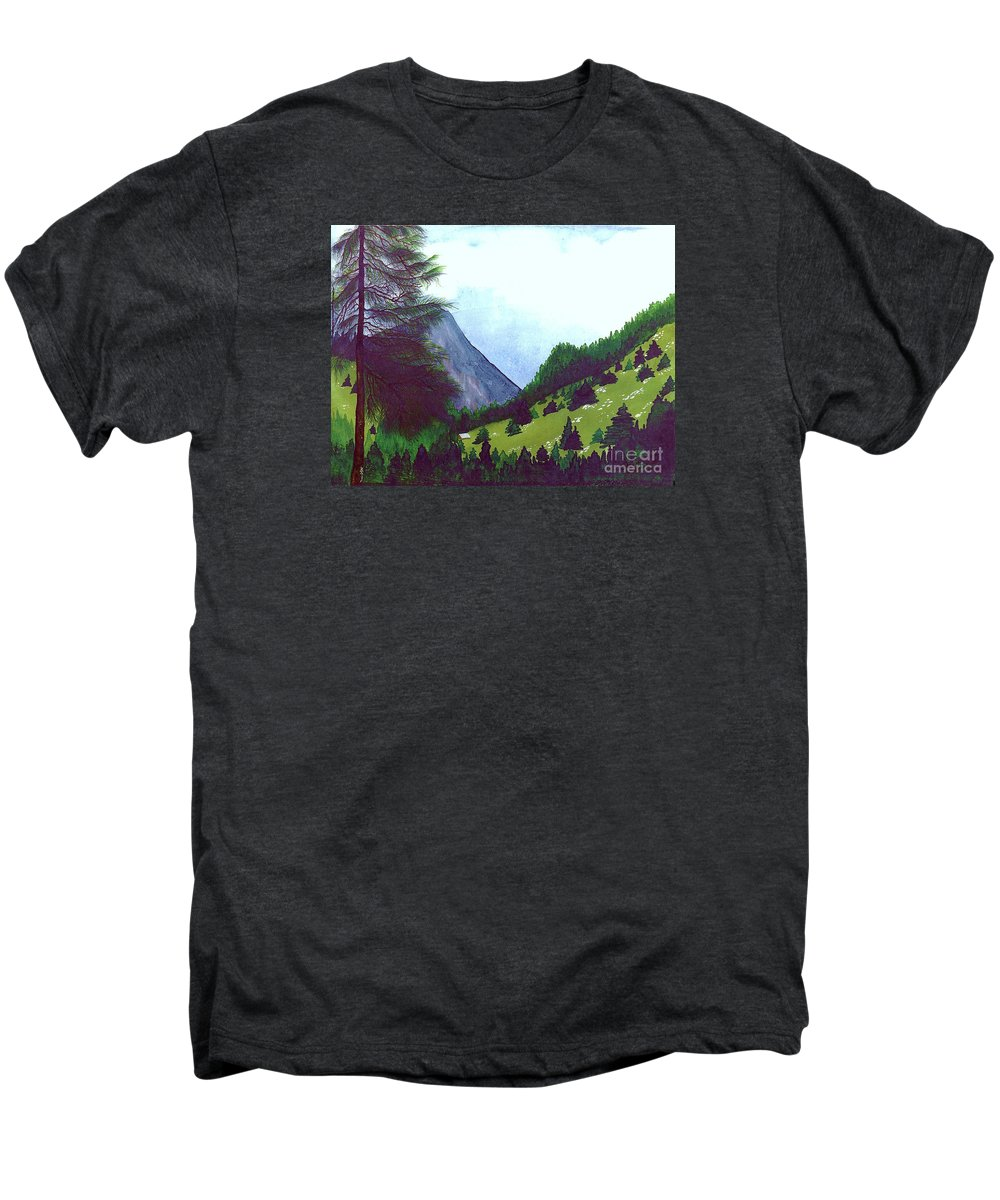 Original Painting Men's Premium T-Shirt featuring the painting Heidi's Place by Patricia Griffin Brett