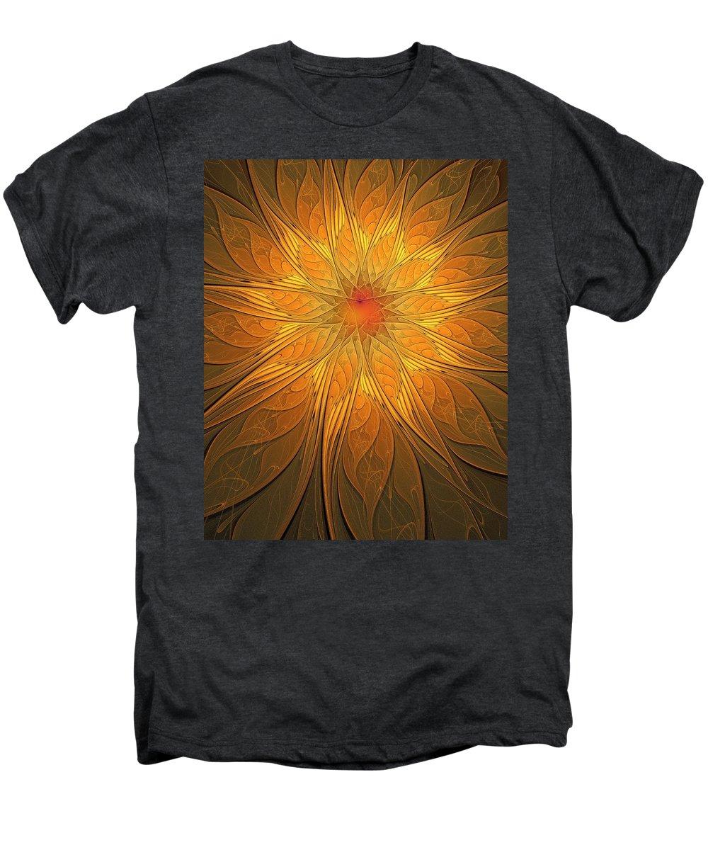 Digital Art Men's Premium T-Shirt featuring the digital art Helio by Amanda Moore