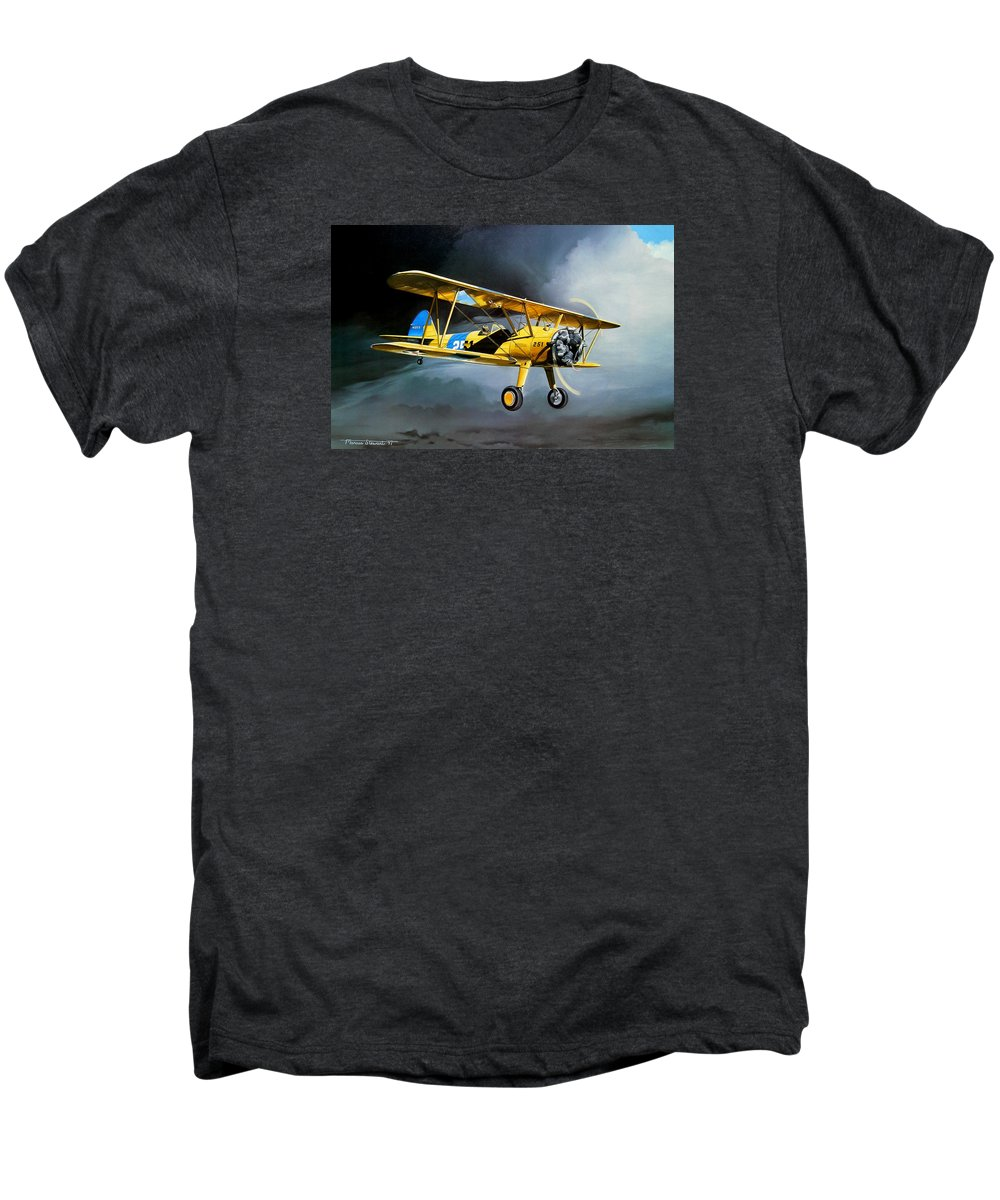 Military Men's Premium T-Shirt featuring the painting Here Comes The Sun by Marc Stewart