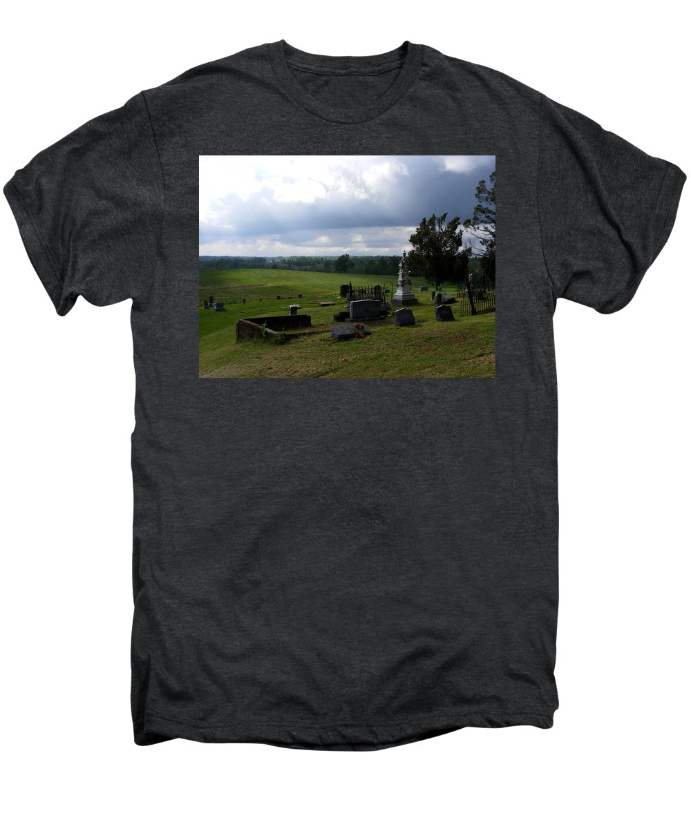 Landscape Men's Premium T-Shirt featuring the photograph Heroes Of Olmsted by Rachel Christine Nowicki