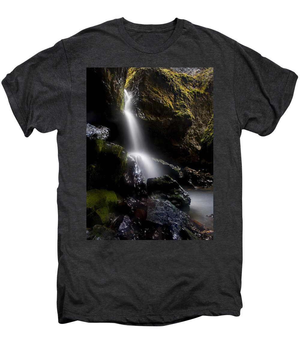 Waterfall Men's Premium T-Shirt featuring the photograph Hidden Falls by Mike Dawson