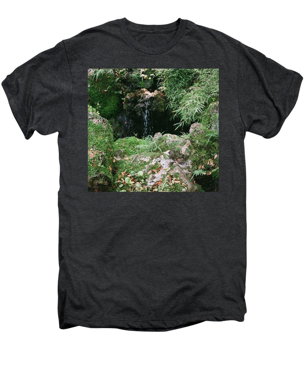 Nature Men's Premium T-Shirt featuring the photograph Hidden Waterfall by Dean Triolo