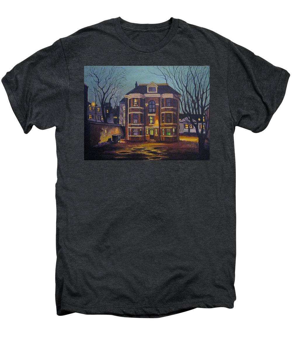 Moody Men's Premium T-Shirt featuring the painting Historic Property South End Haifax by John Malone