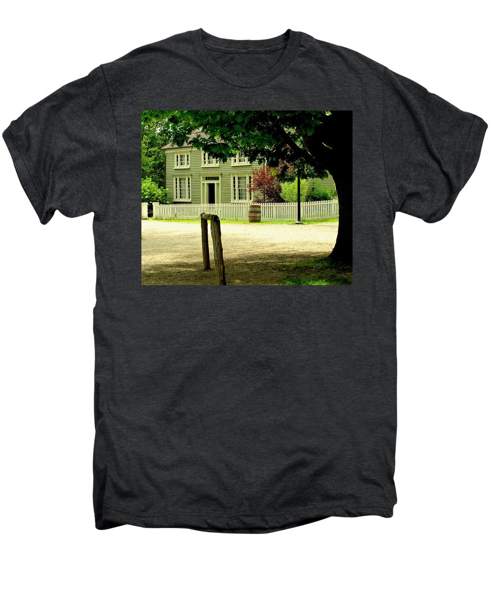 Hitching Post Men's Premium T-Shirt featuring the photograph Hitching Post by Ian MacDonald