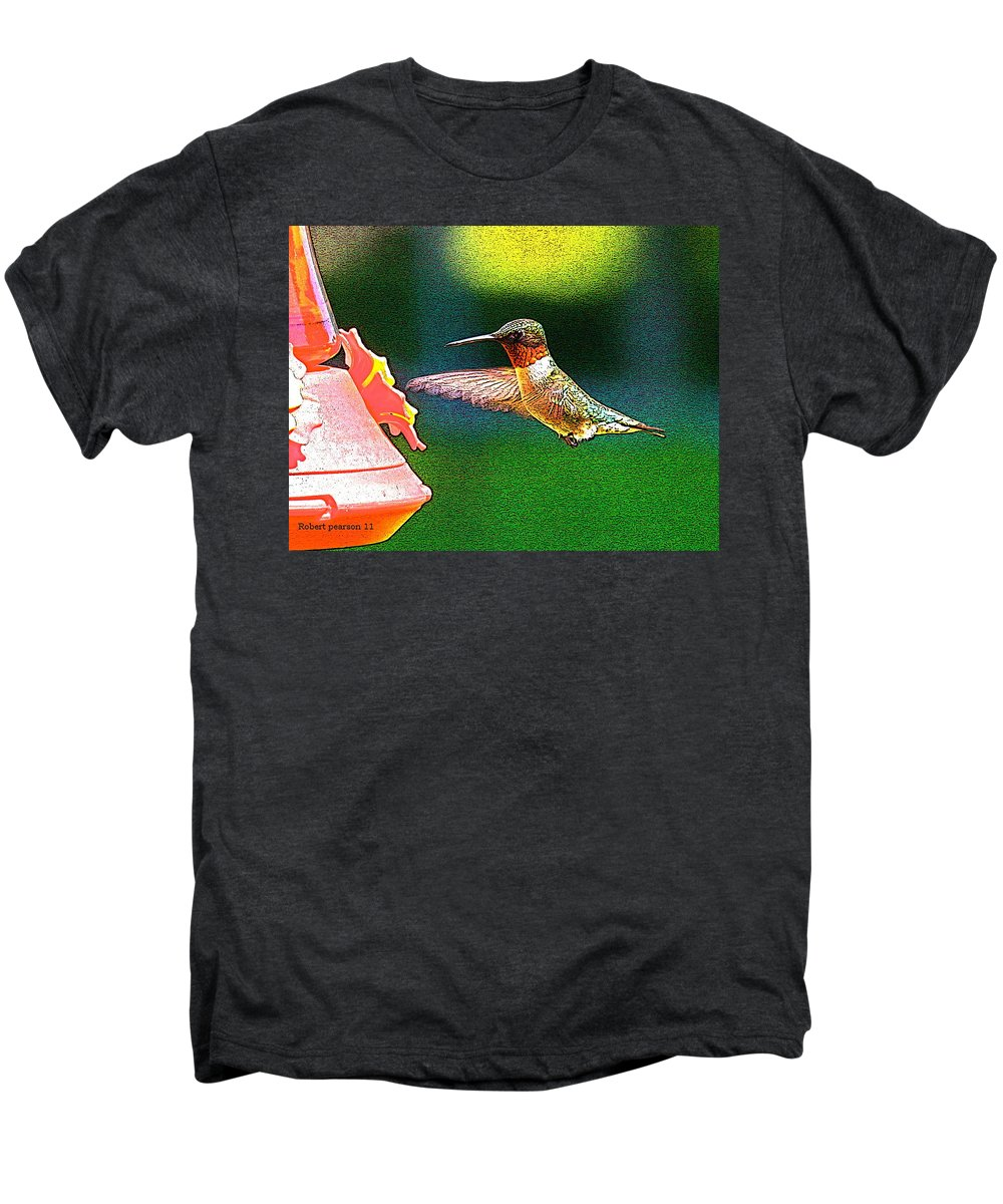 Humming Bird Men's Premium T-Shirt featuring the photograph Hmmm by Robert Pearson
